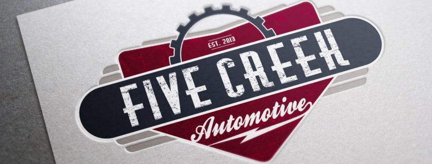 Five creek automotive mj studio 360 tags brand identity business card logo modern print retro simple reheart Image collections